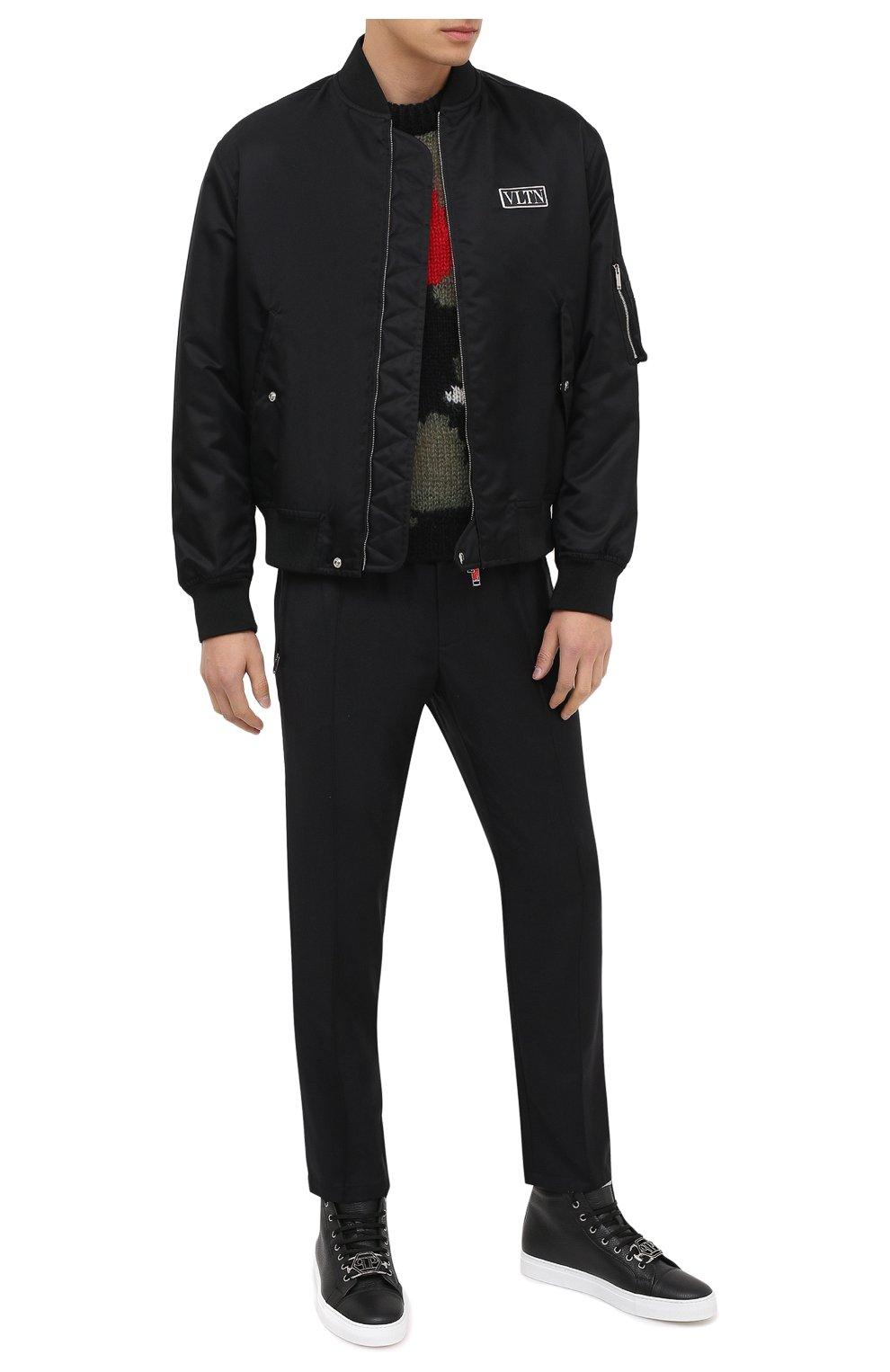 Мужские кожаные кеды PHILIPP PLEIN черного цвета, арт. F20S MSC2822 PLE006N | Фото 2
