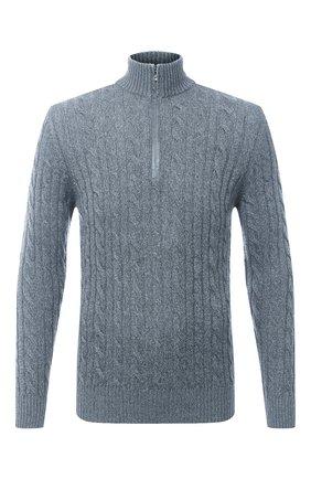 Мужской кашемировый свитер LORO PIANA голубого цвета, арт. FAD7358 | Фото 1