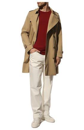 Мужская лонгслив из шелка и хлопка LORO PIANA красного цвета, арт. FAF6129 | Фото 2