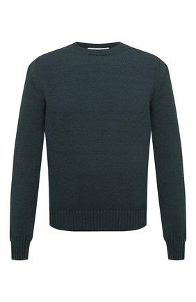 Мужской шерстяной свитер BOTTEGA VENETA зеленого цвета, арт. 638771/V07J0 | Фото 1