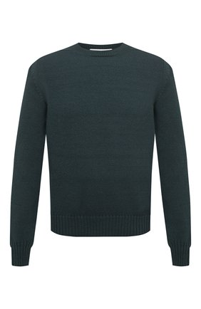 Мужской шерстяной свитер BOTTEGA VENETA зеленого цвета, арт. 638771/V07J0 | Фото 1 (Длина (для топов): Стандартные; Рукава: Длинные; Материал внешний: Шерсть; Принт: Без принта; Стили: Кэжуэл)