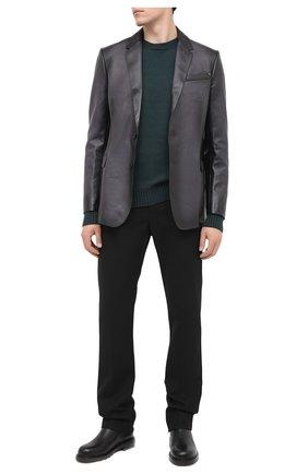 Мужской шерстяной свитер BOTTEGA VENETA зеленого цвета, арт. 638771/V07J0 | Фото 2