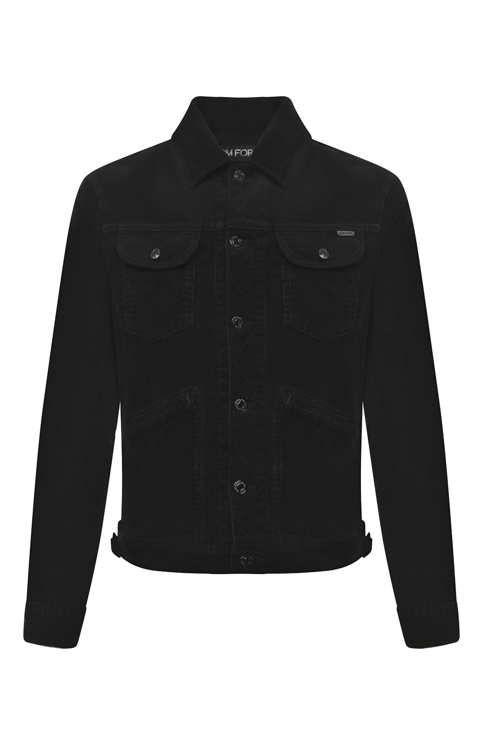 Мужская хлопковая куртка TOM FORD черного цвета, арт. BVJ19/TFD116 | Фото 1