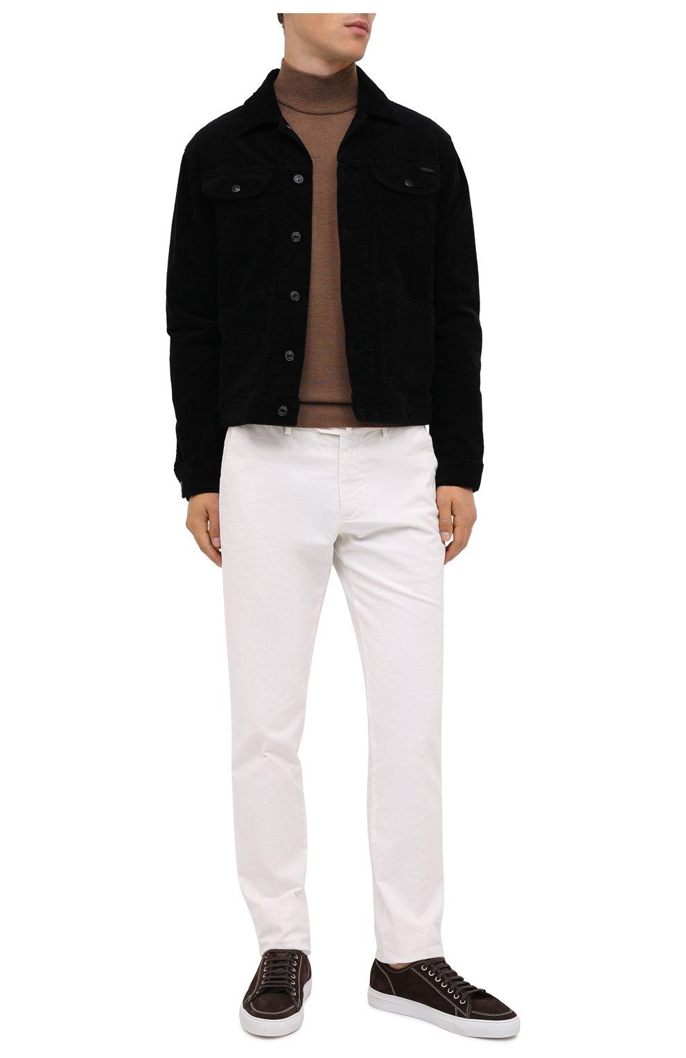 Мужская хлопковая куртка TOM FORD черного цвета, арт. BVJ19/TFD116 | Фото 3