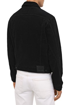 Мужская хлопковая куртка TOM FORD черного цвета, арт. BVJ19/TFD116 | Фото 5