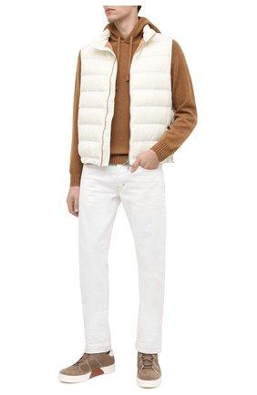 Мужской кашемировый свитер TOM FORD темно-бежевого цвета, арт. BVK75/TFK314 | Фото 2