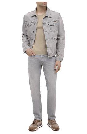 Мужские джинсы TOM FORD светло-серого цвета, арт. BVJ26/TFD002 | Фото 2