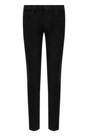 Мужской хлопковые брюки TOM FORD черного цвета, арт. BVJ19/TFD002   Фото 1