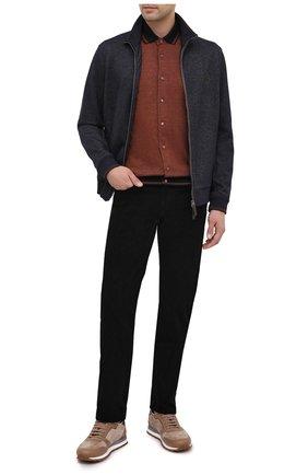 Мужской хлопковые брюки TOM FORD черного цвета, арт. BVJ19/TFD002   Фото 2