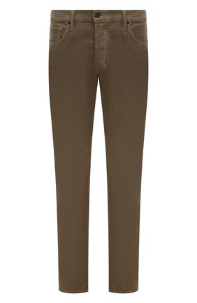 Мужской хлопковые брюки TOM FORD бежевого цвета, арт. BVJ19/TFD002 | Фото 1