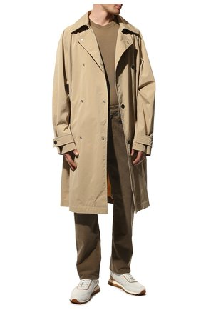 Мужской хлопковые брюки TOM FORD бежевого цвета, арт. BVJ19/TFD002 | Фото 2