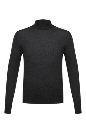 Мужской водолазка из кашемира и шелка TOM FORD темно-серого цвета, арт. BVH99/TFK122 | Фото 1 (Длина (для топов): Стандартные; Материал внешний: Шерсть, Шелк; Рукава: Длинные; Мужское Кросс-КТ: Водолазка-одежда; Принт: Без принта; Стили: Классический)