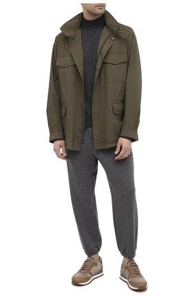 Мужской водолазка из кашемира и шелка TOM FORD темно-серого цвета, арт. BVH99/TFK122 | Фото 2 (Длина (для топов): Стандартные; Материал внешний: Шерсть, Шелк; Рукава: Длинные; Мужское Кросс-КТ: Водолазка-одежда; Принт: Без принта; Стили: Классический)