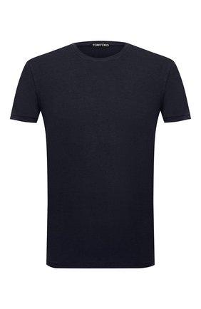 Мужская футболка TOM FORD темно-синего цвета, арт. BV229/TFJ950   Фото 1