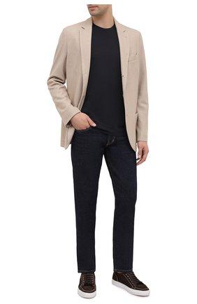 Мужская футболка TOM FORD черного цвета, арт. BV229/TFJ950   Фото 2 (Материал внешний: Лиоцелл, Хлопок; Рукава: Короткие; Длина (для топов): Стандартные; Принт: Без принта; Стили: Классический)