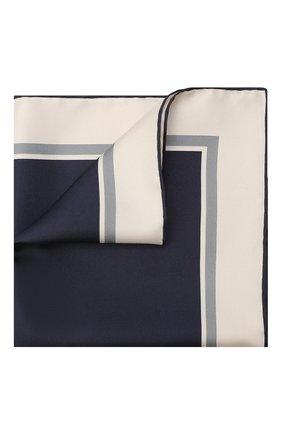 Мужской шелковый платок TOM FORD темно-синего цвета, арт. 8TF96/TF312 | Фото 1