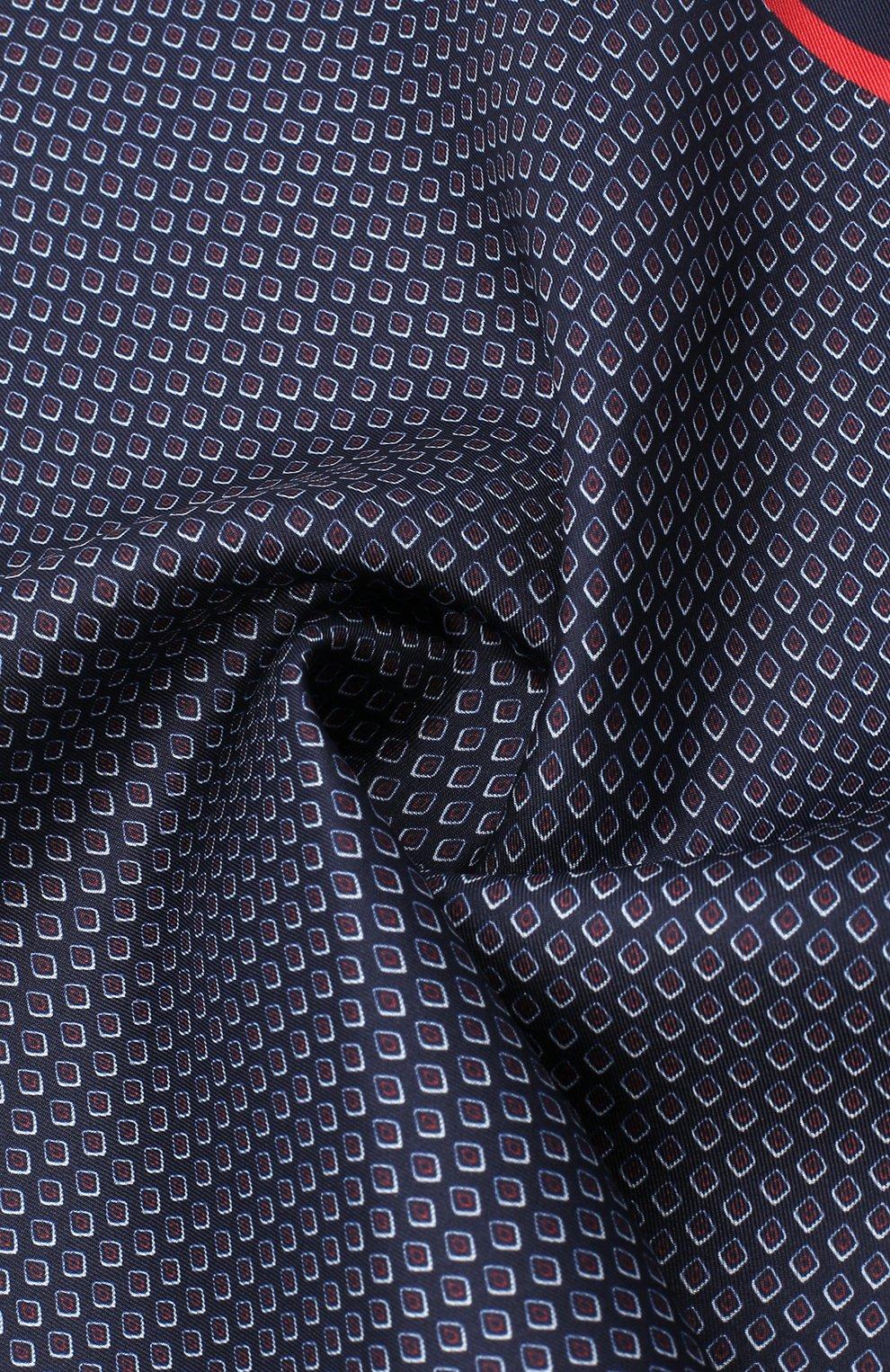 Мужской шелковый платок BOSS синего цвета, арт. 50441130 | Фото 2