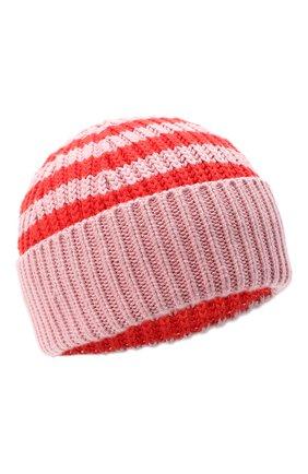 Детского хлопковая шапка STELLA MCCARTNEY розового цвета, арт. 601374/SPM10 | Фото 1