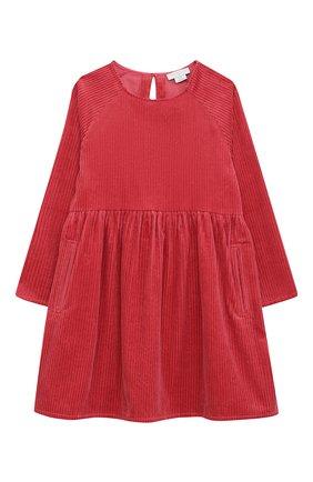 Детское хлопковое платье STELLA MCCARTNEY красного цвета, арт. 601320/SPK09   Фото 1