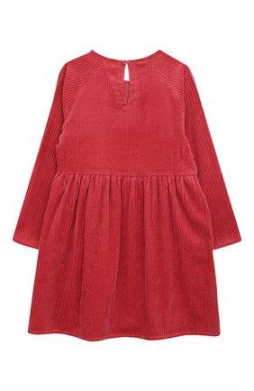 Детское хлопковое платье STELLA MCCARTNEY красного цвета, арт. 601320/SPK09   Фото 2