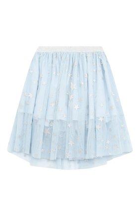 Детская юбка STELLA MCCARTNEY голубого цвета, арт. 601283/SPKB1 | Фото 1