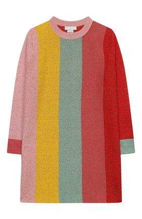 Детское хлопковое платье STELLA MCCARTNEY разноцветного цвета, арт. 601166/SPM23   Фото 1