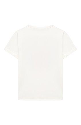 Детская хлопковая футболка STELLA MCCARTNEY белого цвета, арт. 601104/SPJ03 | Фото 2