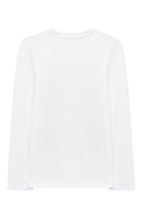 Детская хлопковый лонгслив STELLA MCCARTNEY белого цвета, арт. 601097/SPJF8 | Фото 2