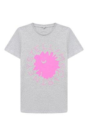 Детская хлопковая футболка STELLA MCCARTNEY серого цвета, арт. 601096/SPJ82 | Фото 1