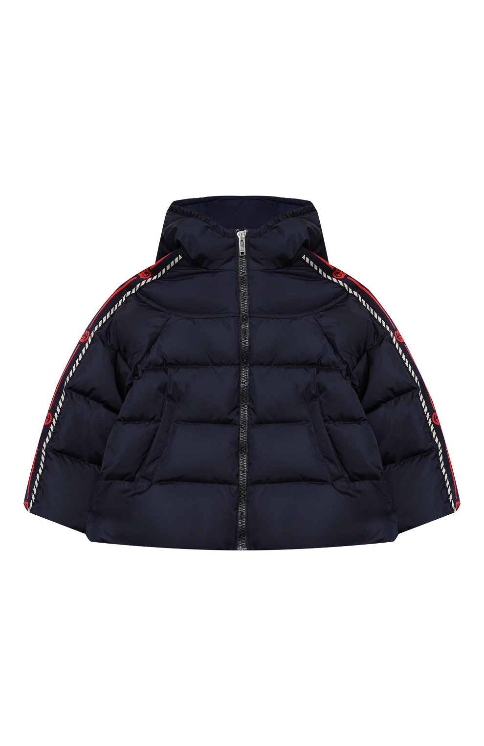 Детского пуховая куртка GUCCI синего цвета, арт. 622832/XWAK7 | Фото 1