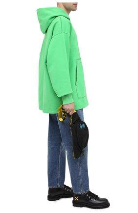 Мужской хлопковое худи ACNE STUDIOS зеленого цвета, арт. BI0079 | Фото 2