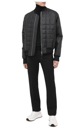 Мужской брюки BOTTEGA VENETA черного цвета, арт. 636527/V02W0 | Фото 2