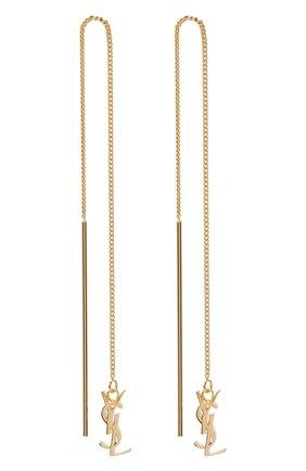 Женские серьги opium SAINT LAURENT золотого цвета, арт. 635450/Y1500   Фото 1
