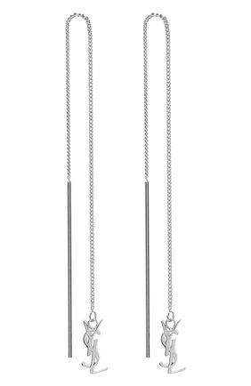 Женские серьги opium SAINT LAURENT серебряного цвета, арт. 635450/Y1500   Фото 1