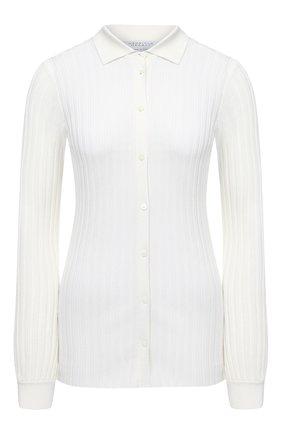 Женский шерстяной пуловер GABRIELA HEARST кремвого цвета, арт. 420927 A016 | Фото 1