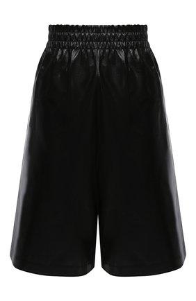 Женские кожаные шорты BOTTEGA VENETA черного цвета, арт. 633445/VKLC0 | Фото 1