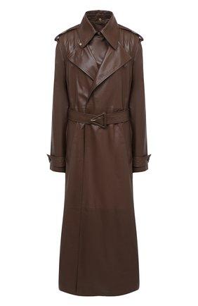 Женский кожаный тренч BOTTEGA VENETA светло-коричневого цвета, арт. 640244/V06E0   Фото 1