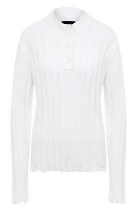Женский хлопковый пуловер RTA белого цвета, арт. WU069-7136WHT | Фото 1