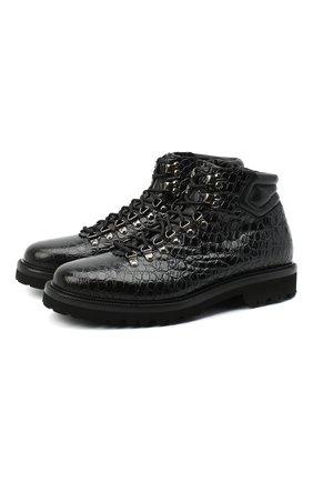 Мужские кожаные ботинки ALDO BRUE черного цвета, арт. AB5501K-NWN.L.F84R   Фото 1