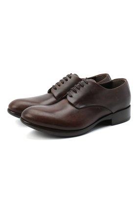 Мужской кожаные дерби ROCCO P. темно-коричневого цвета, арт. 11020/DALLAS | Фото 1
