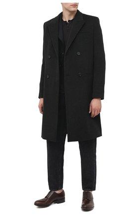 Мужской кожаные дерби ROCCO P. темно-коричневого цвета, арт. 11020/DALLAS | Фото 2