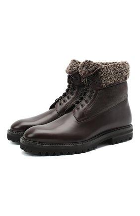 Мужские кожаные ботинки W.GIBBS темно-коричневого цвета, арт. 7260007/2251 | Фото 1