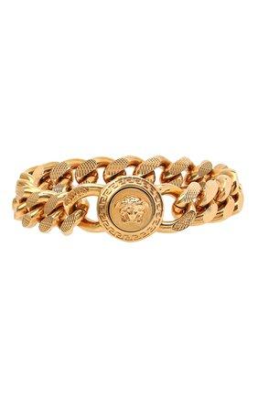 Мужской браслет VERSACE золотого цвета, арт. DG06996/DJMT | Фото 1