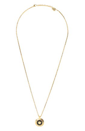 Мужского цепь с кулоном VERSACE золотого цвета, арт. DG17487/DJMS | Фото 1