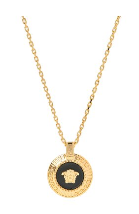 Мужского цепь с кулоном VERSACE золотого цвета, арт. DG17487/DJMS | Фото 2
