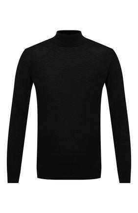 Мужской шерстяная водолазка DANIELE FIESOLI черного цвета, арт. DF 0029 | Фото 1