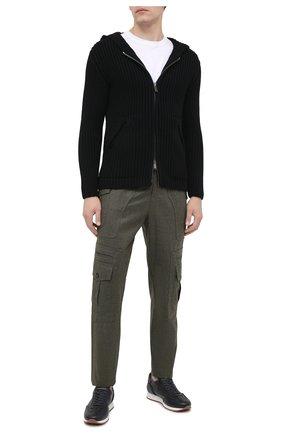 Мужская шерстяной кардиган DANIELE FIESOLI черного цвета, арт. DF 0088 | Фото 2