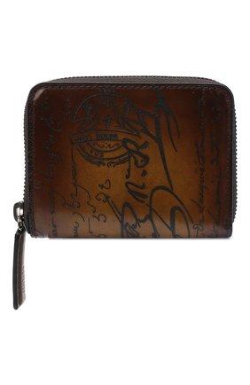 Мужской кожаный кошелек для монет BERLUTI коричневого цвета, арт. N135253 | Фото 1