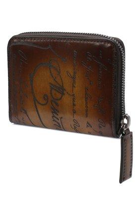 Мужской кожаный кошелек для монет BERLUTI коричневого цвета, арт. N135253 | Фото 2