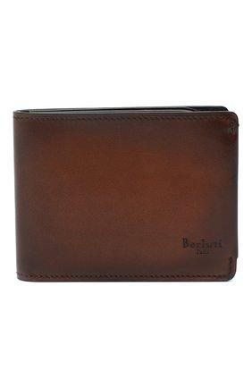 Мужской кожаное портмоне BERLUTI коричневого цвета, арт. N152797 | Фото 1